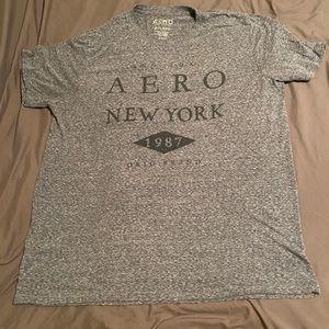 Men's Aeropostale 2XL mottled gray T-shirt